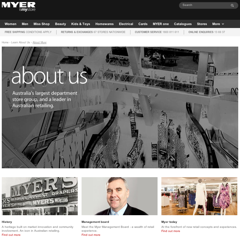 Myer is Hopeful Regardless of Retail Strife